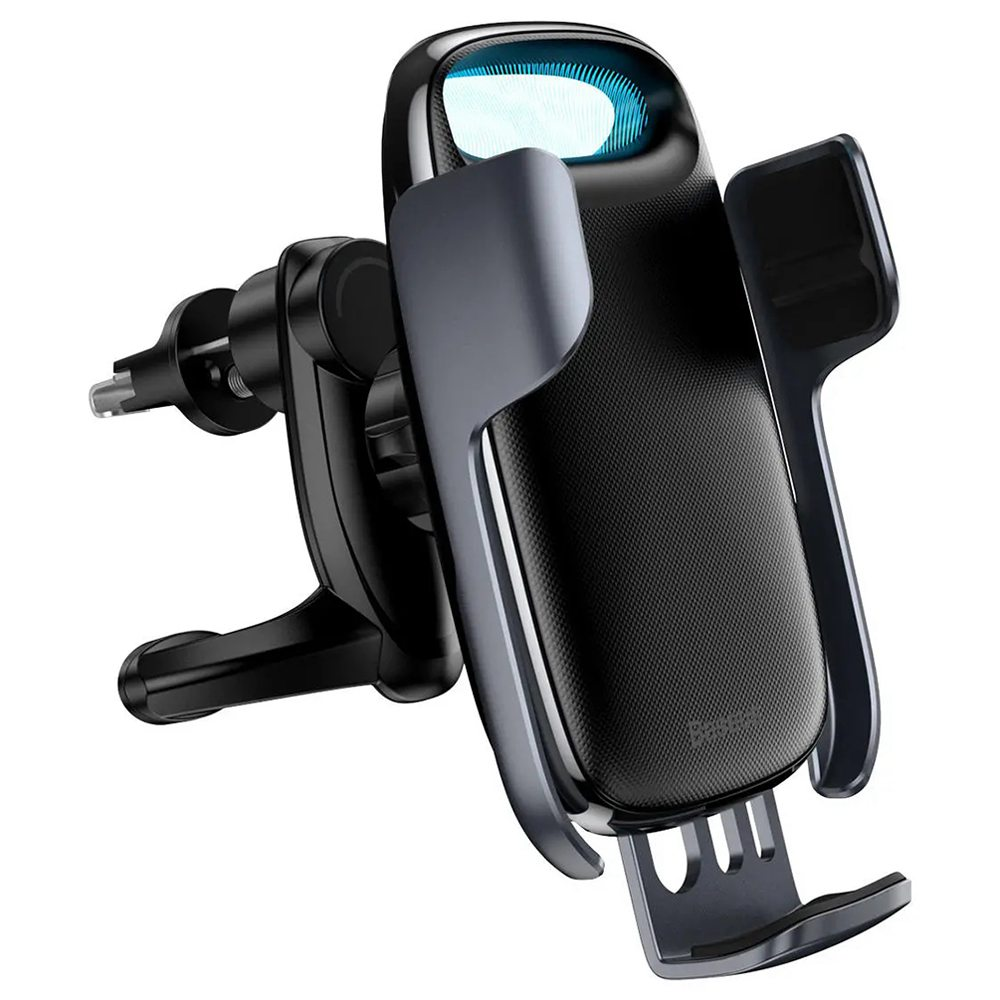 Baseus Wireless Qi 15W QC 3.0 Fast Charging Rotatable Car Air Vent Phone Holder For 4.7