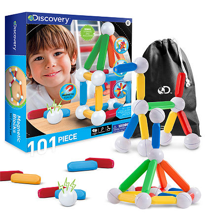 Discovery Kids Magnetic Blocks - 101 Piece Set, One Size , Multiple Colors
