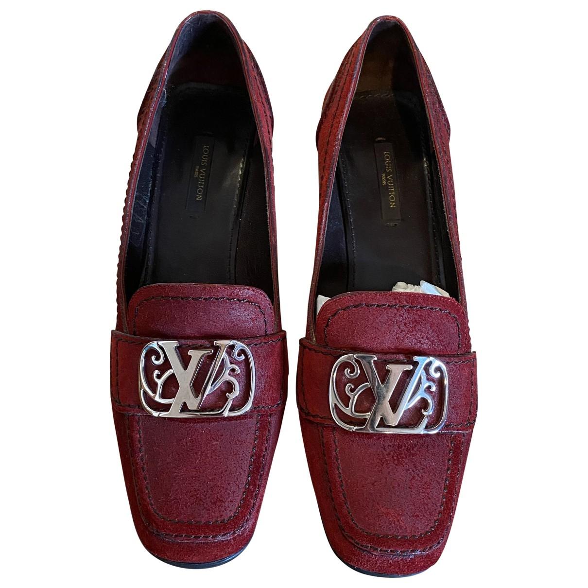 Louis Vuitton \N Red Suede Heels for Women 38 EU