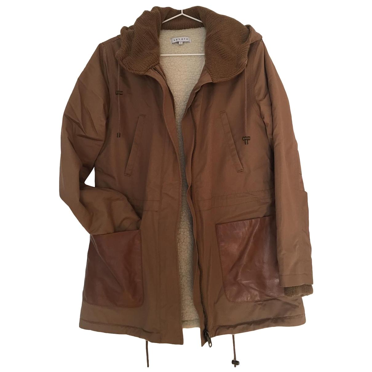 Sandro \N Camel Cotton coat for Women 1 0-5