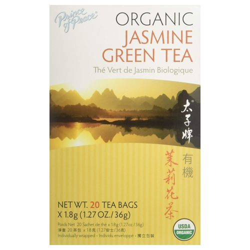 Organic Jasmine Green Tea 20 Count by Prince Of Peace