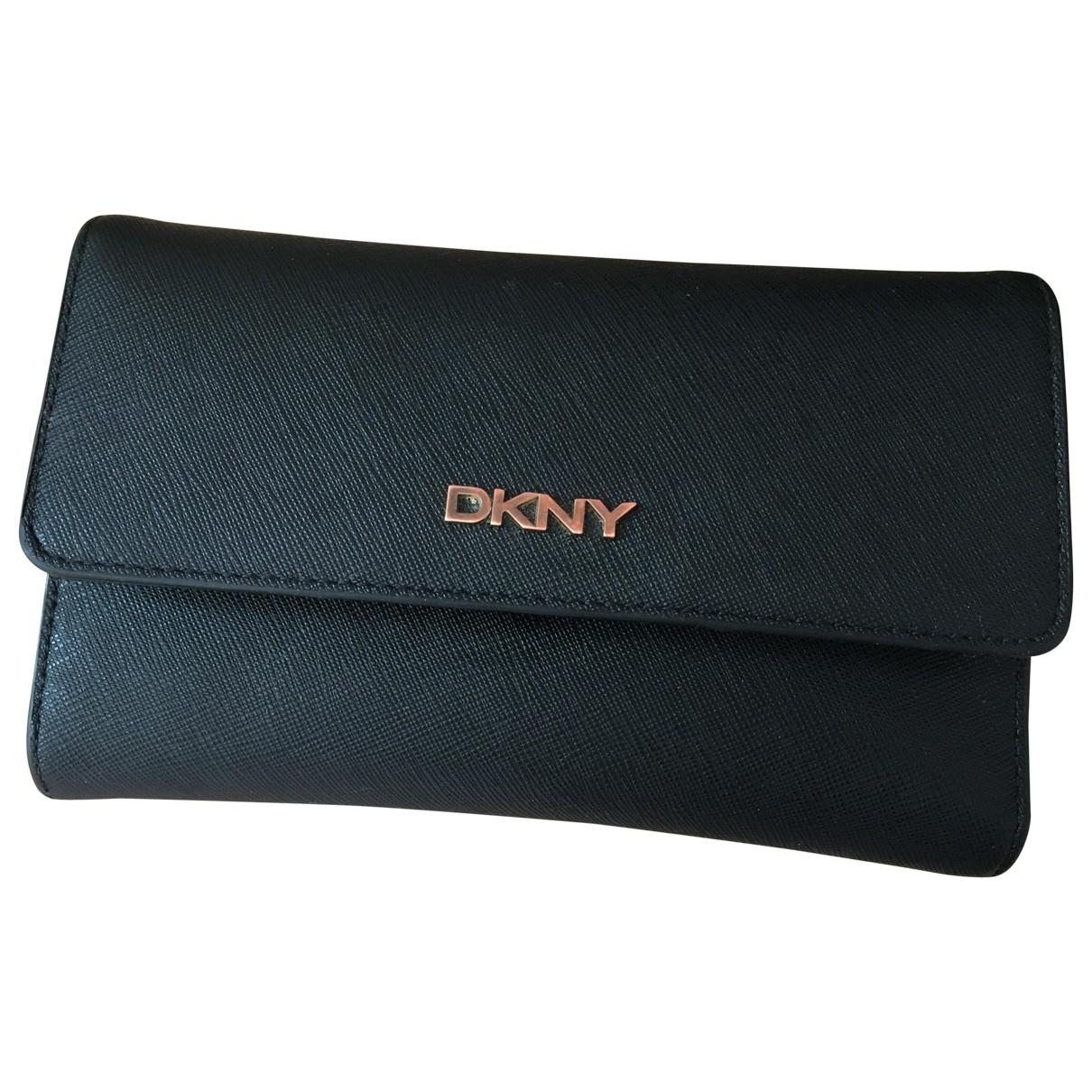 Dkny \N Black Cloth wallet for Women \N