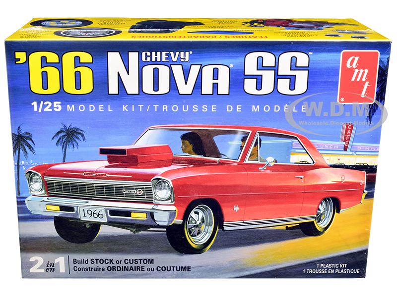 Skill 2 Model Kit 1966 Chevrolet Nova SS 2-in-1 Kit 1/25 Scale Model by AMT