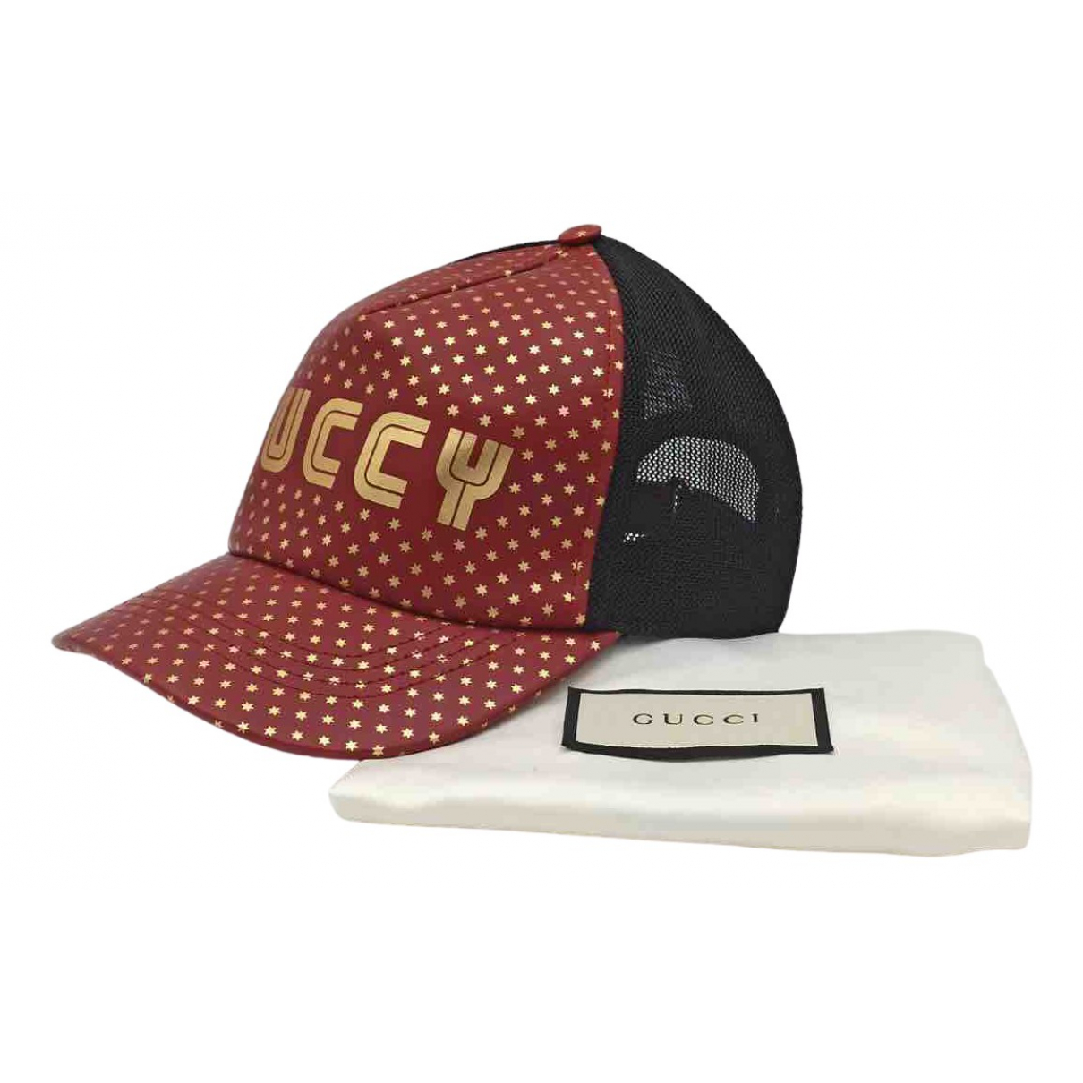 Gucci \N Red Leather hat & pull on hat for Men 58 cm