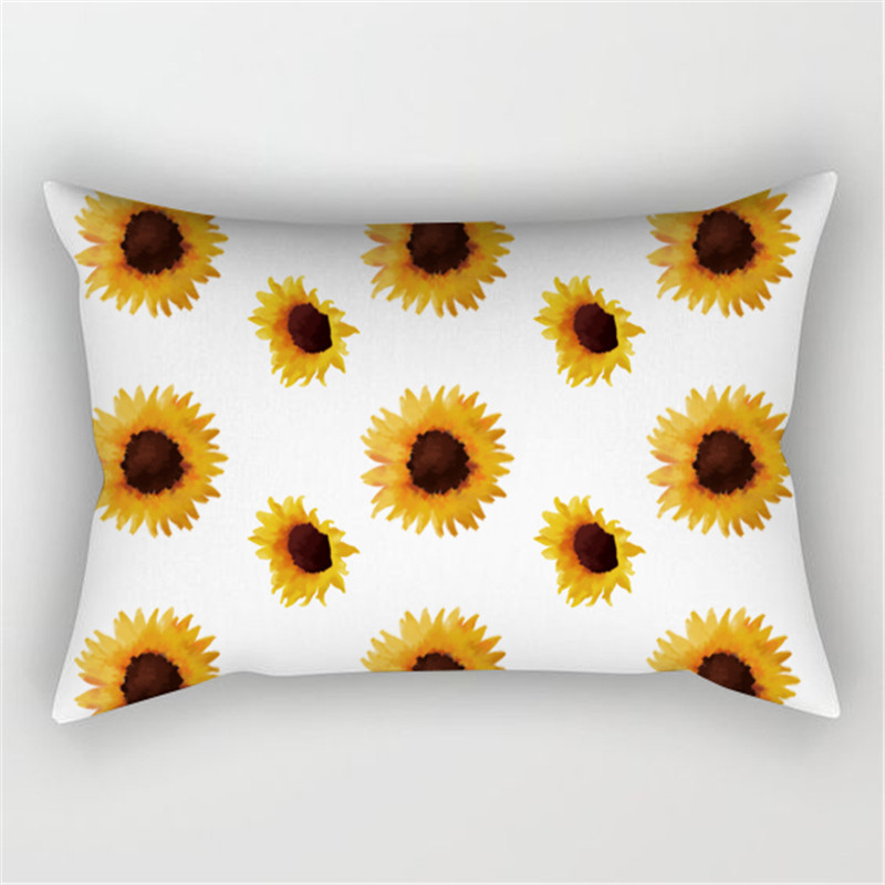 Sunshine Sunflowers with Hidden Zipper Pillowcase Reactive Printing Machine Wash Polyester Pillowcase