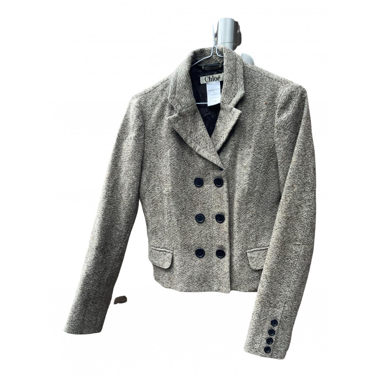 Chloé \N Beige Wool jacket for Women 36 FR
