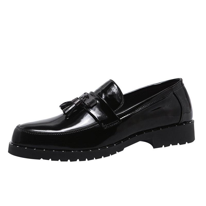 Ericdress Plain Fringe Round Toe Slip-On Men's Dress Shoes