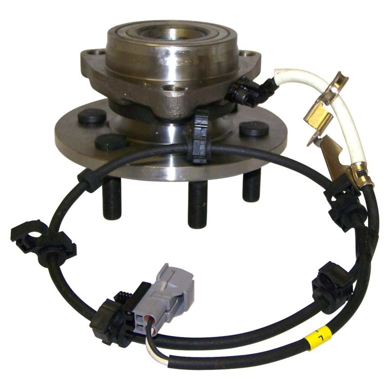 Crown Automotive 52068965AB Jeep Replacement Front Right Hub Assembly for Various Dodge Vehicles w/ 4WD, w ABS; Incl Sensor Front Left