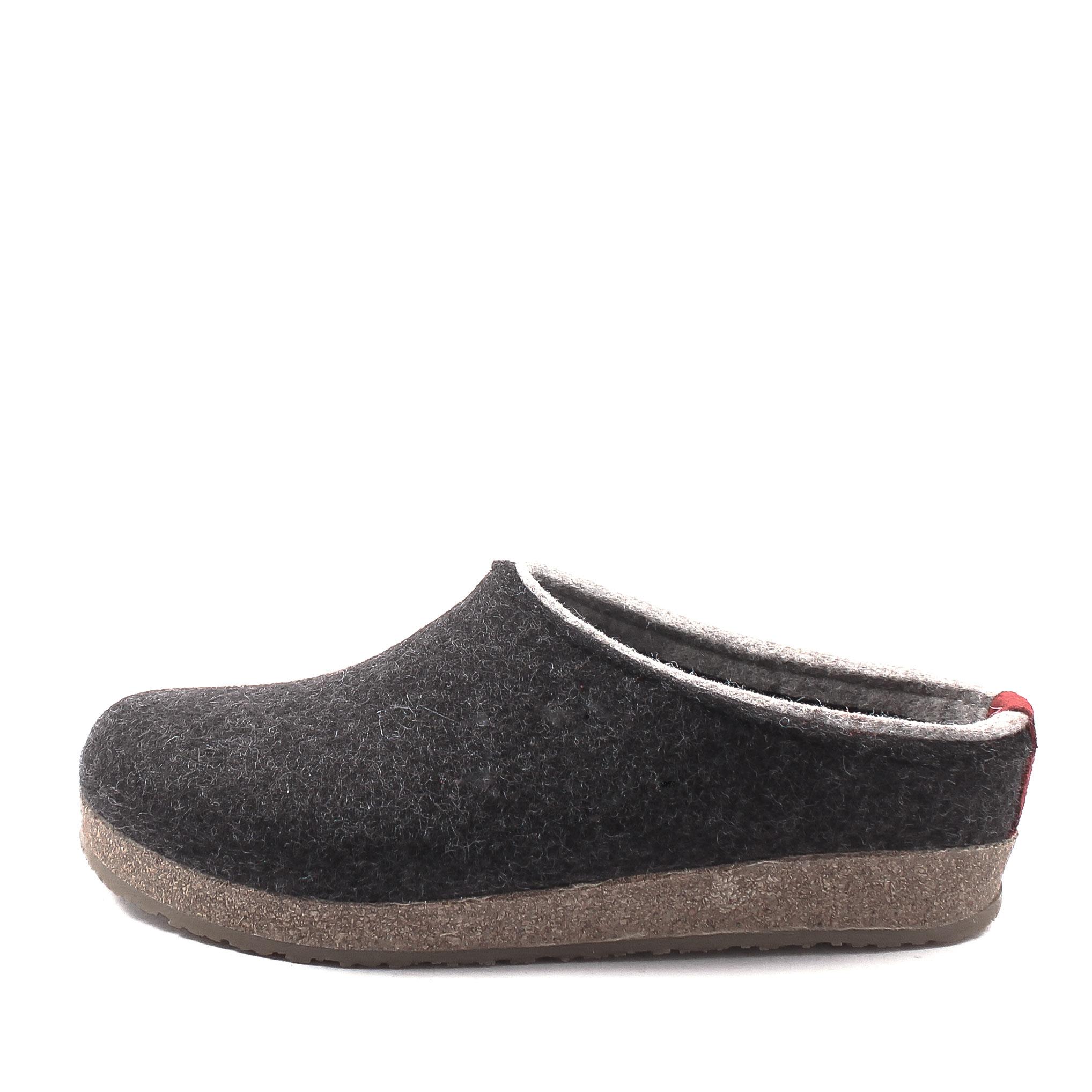 Haflinger, Grizzly Kris Unisex Carpet Slippers, anthracite Gre 36