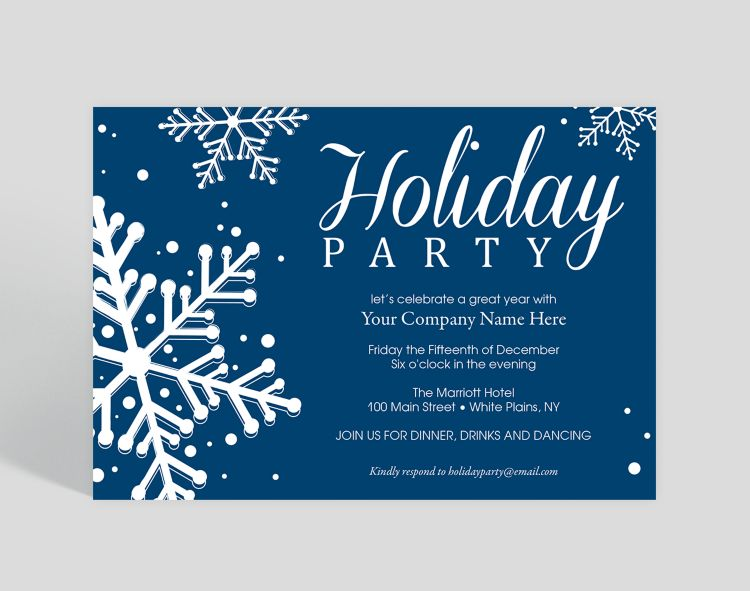 Champagne Corporate Party Invitation - Greeting Cards