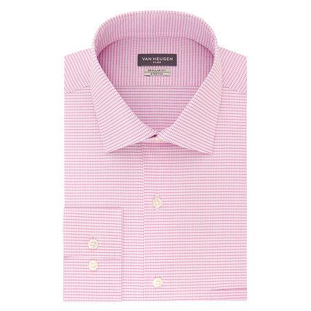 Van Heusen Flex Collar Big And Tall Mens Spread Collar Long Sleeve Wrinkle Free Stretch Dress Shirt, 18 32-33, Pink