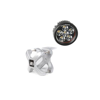 Rugged Ridge Round LED Light and Small X Clamp Kit - 15210.34