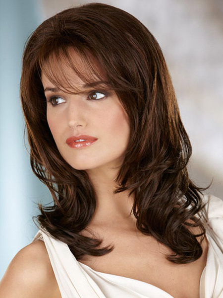 Milanoo Brown Curly Synthetic Wig For Women