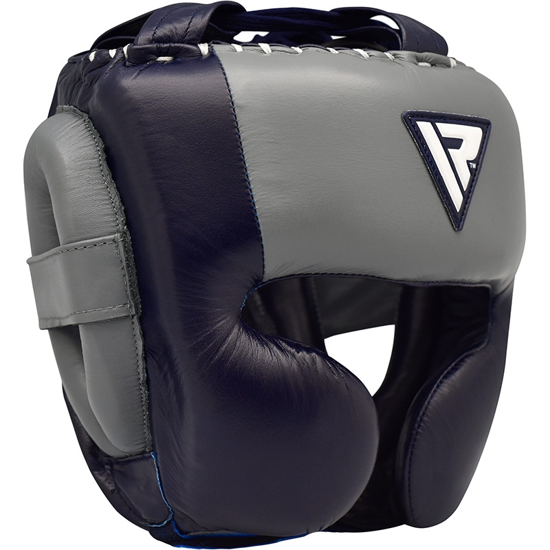 RDX O1 Professional Sparring Head Guard Leather Small Blue