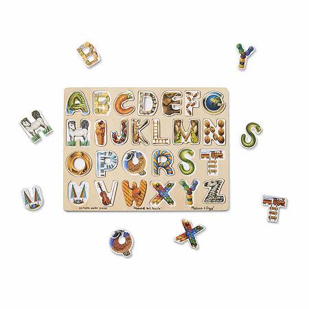 Melissa & Doug Alphabet Art Wooden Puzzle, One Size , Multiple Colors
