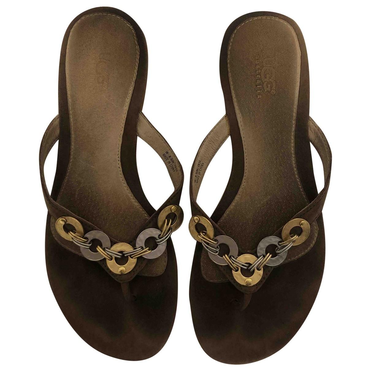 Ugg \N Brown Suede Sandals for Women 38 EU