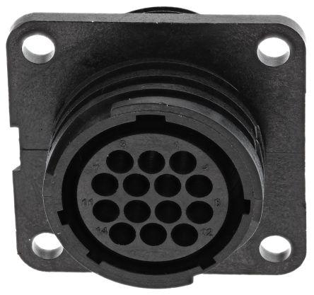 Toughcon Connector, 14 contacts Panel Mount Socket, Crimp IP44, IP65