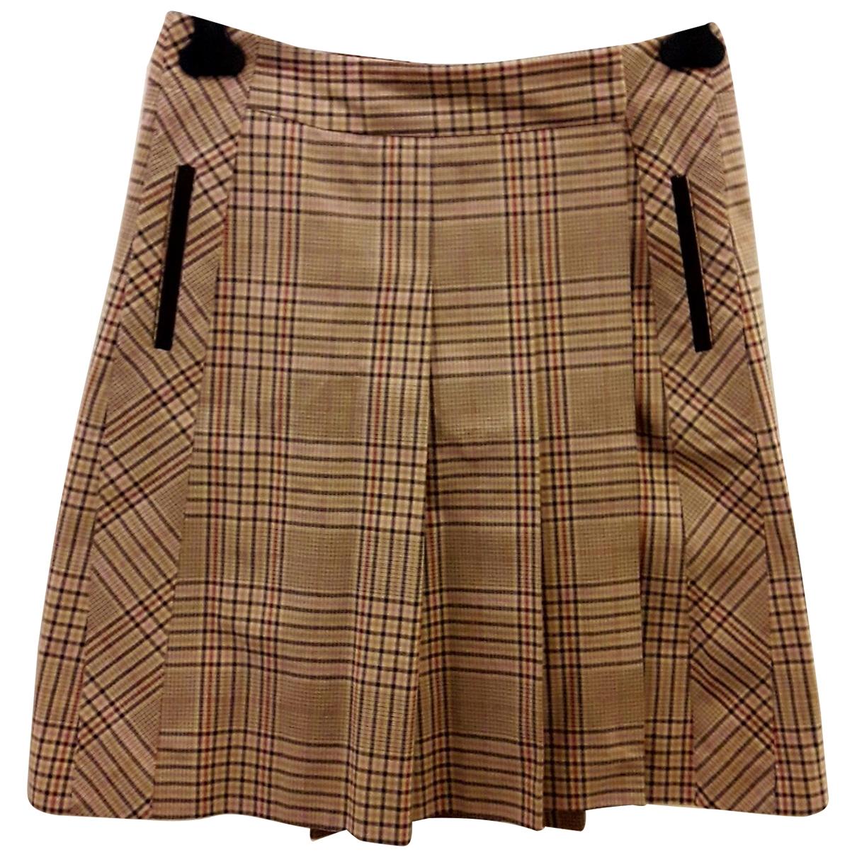 Diane Von Furstenberg \N Beige Cotton skirt for Women 8 UK