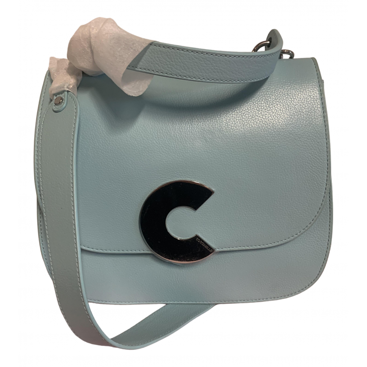 Coccinelle \N Navy Leather handbag for Women \N