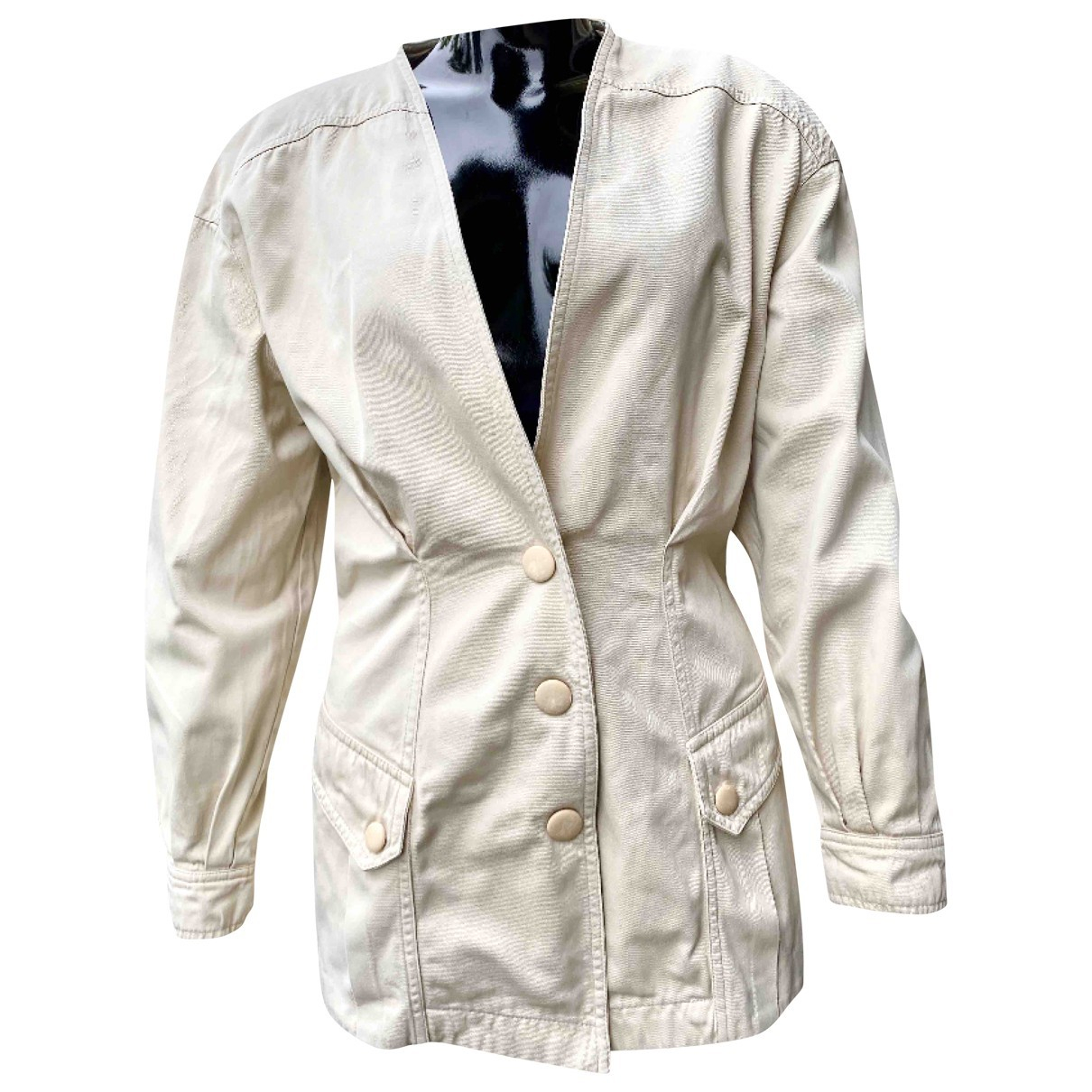 Thierry Mugler \N Beige Cotton jacket for Women 44 IT