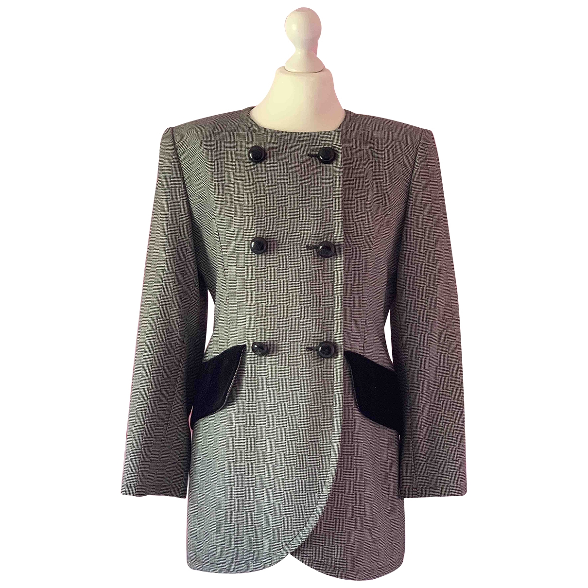Givenchy \N Anthracite Wool jacket for Women 42 FR