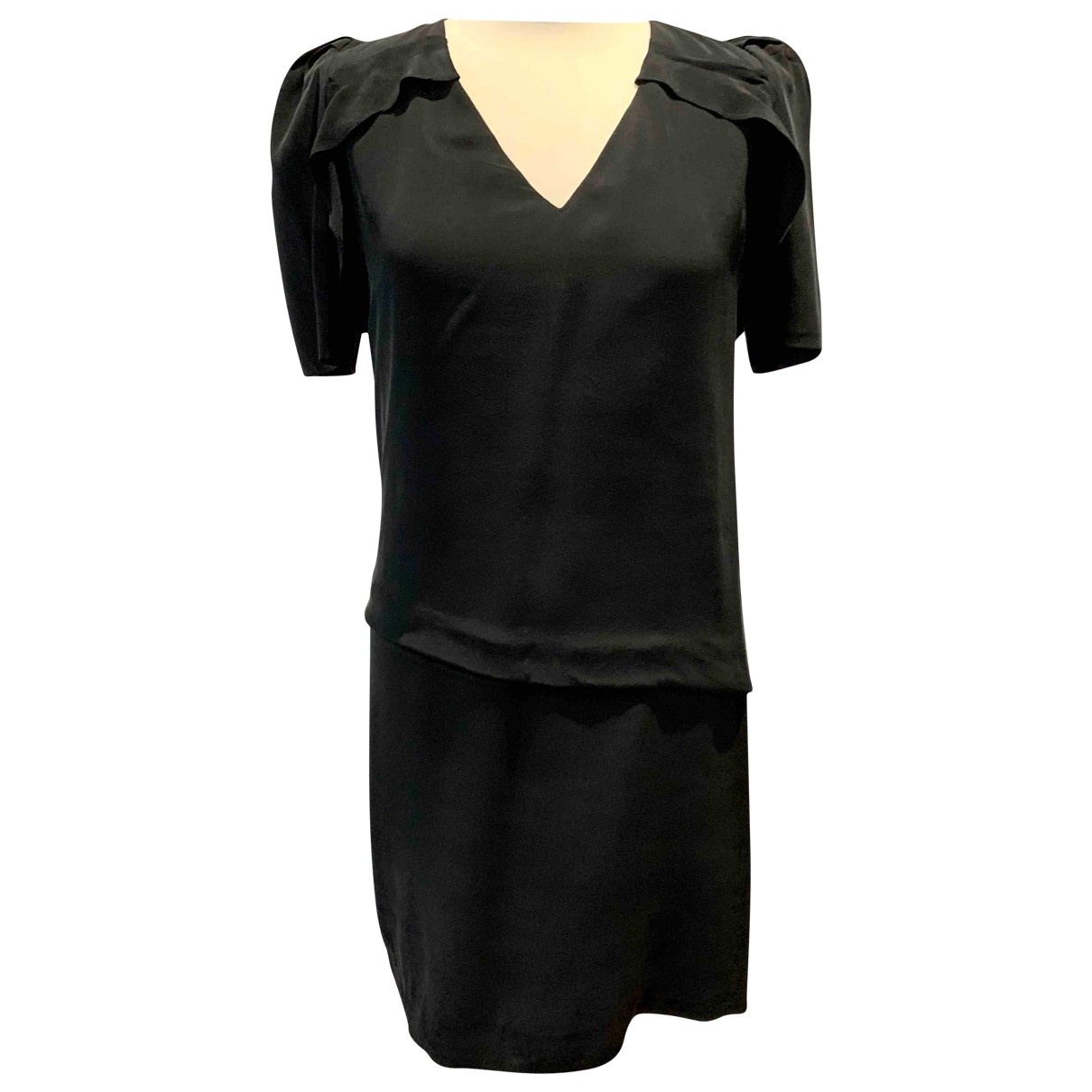 Maje \N Black Silk dress for Women 2 0-5