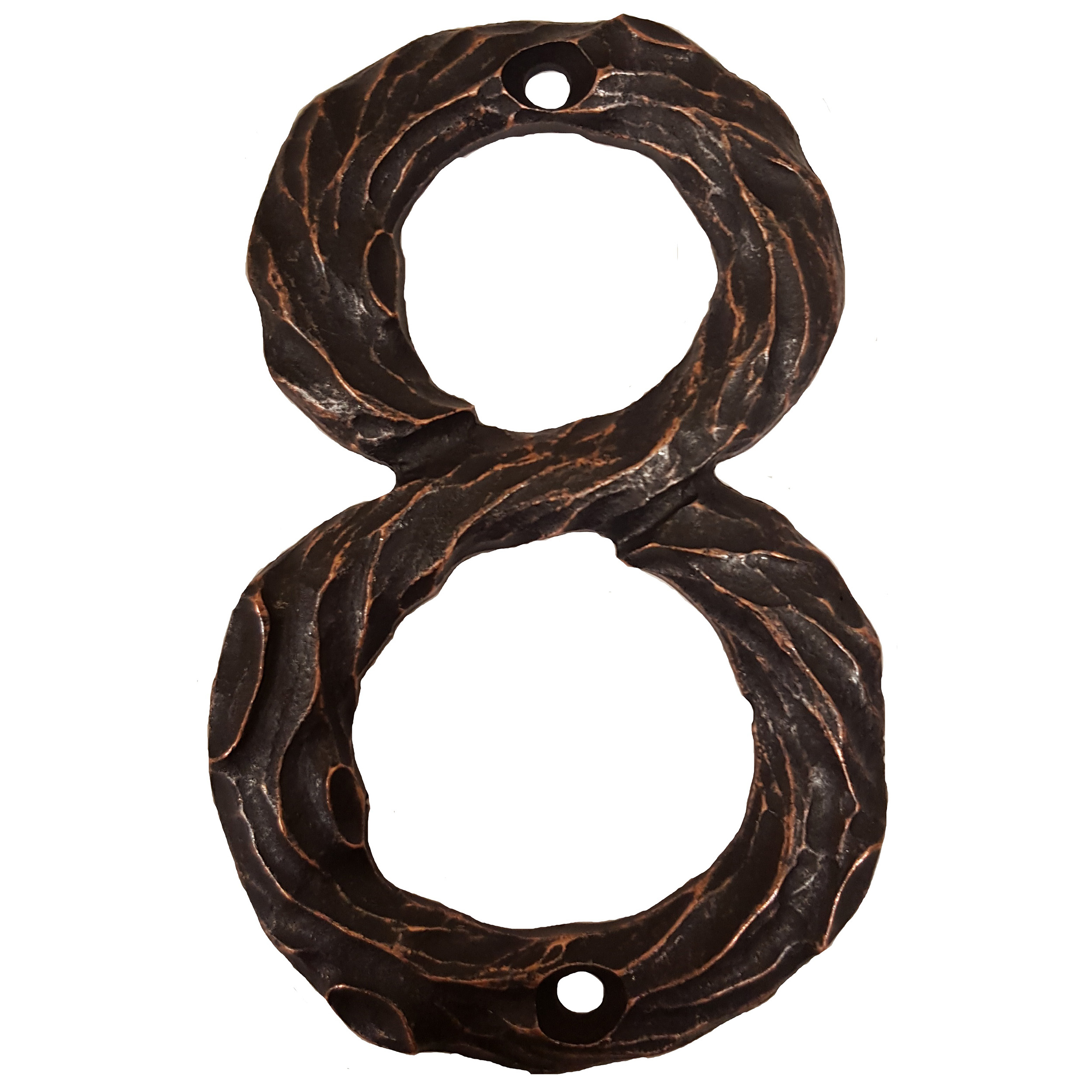 LHN8-ORB Log House Number 8, Oil Rubbed Bronze, 1 piece