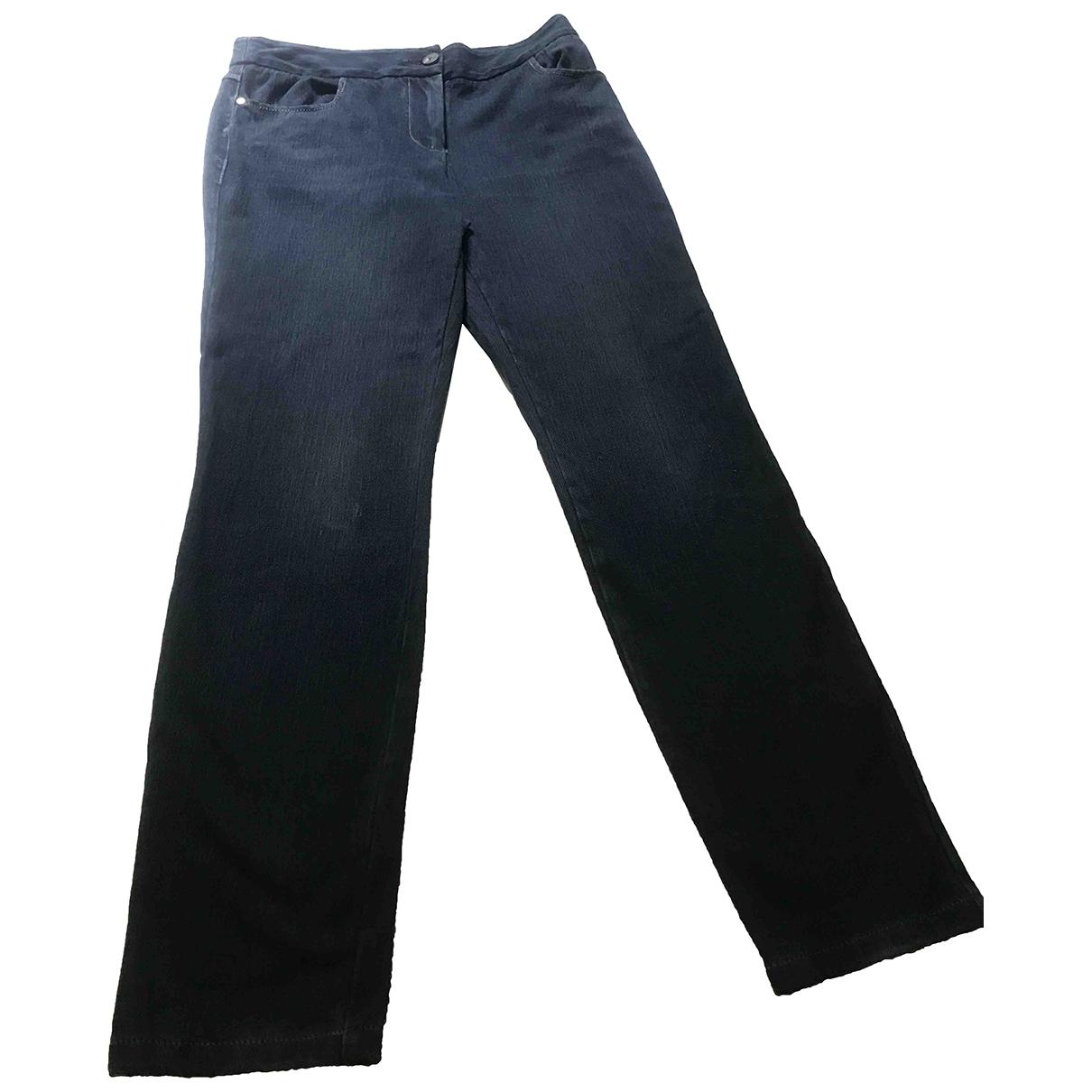 Diane Von Furstenberg \N Blue Denim - Jeans Trousers for Women 4 US