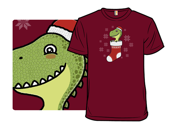 Stockingsaurus Rex T Shirt