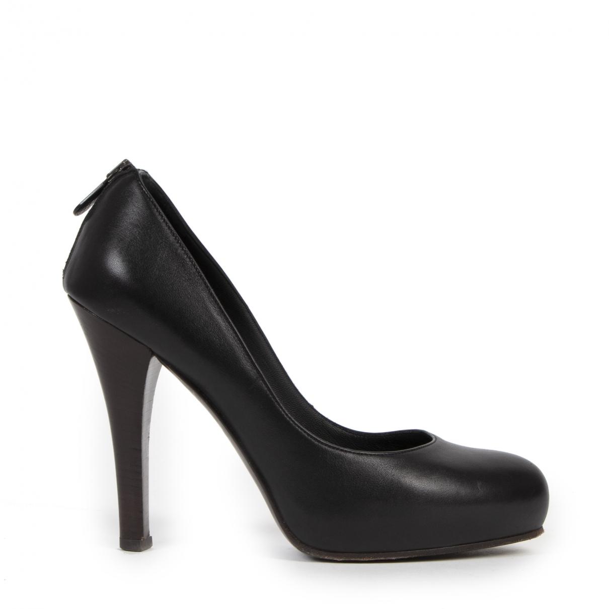 Bottega Veneta \N Black Leather Heels for Women 38 EU