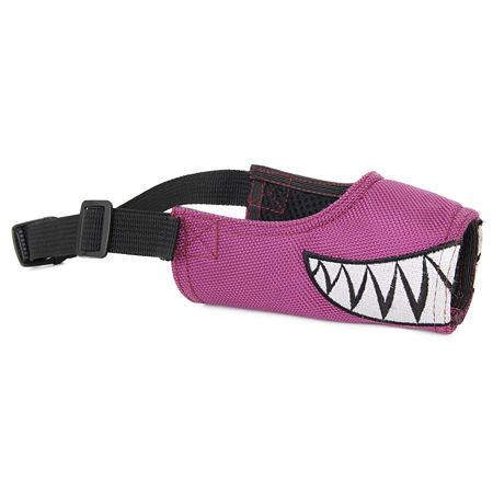 Pet Life Funimation Adjustable Designer Dog Muzzle, One Size , Purple