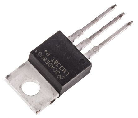 Texas Instruments , 1.2 → 32 V Linear Voltage Regulator, 5A, 1-Channel, Adjustable 3-Pin, TO-220 LM338T/NOPB (5)