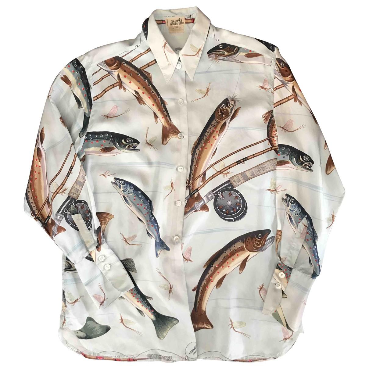 Hermès \N Multicolour Silk  top for Women 40 FR