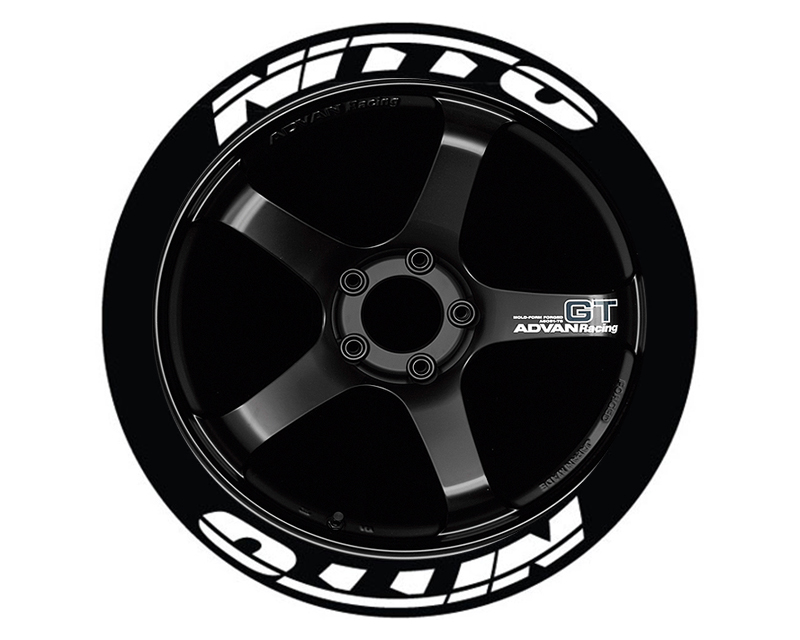Tire Stickers NIT-1718-125-8-R Permanent Raised Rubber Lettering 'Nitto' - 8 Of Each - 17-18 - 1.25 - Red
