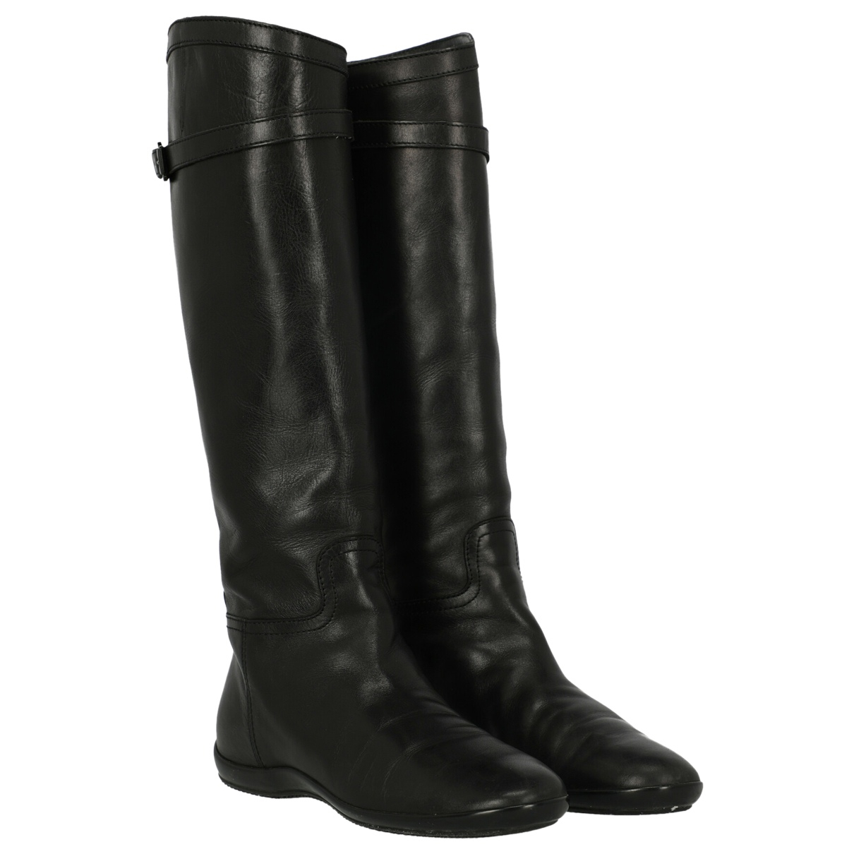 Hogan \N Black Leather Boots for Women 39 IT
