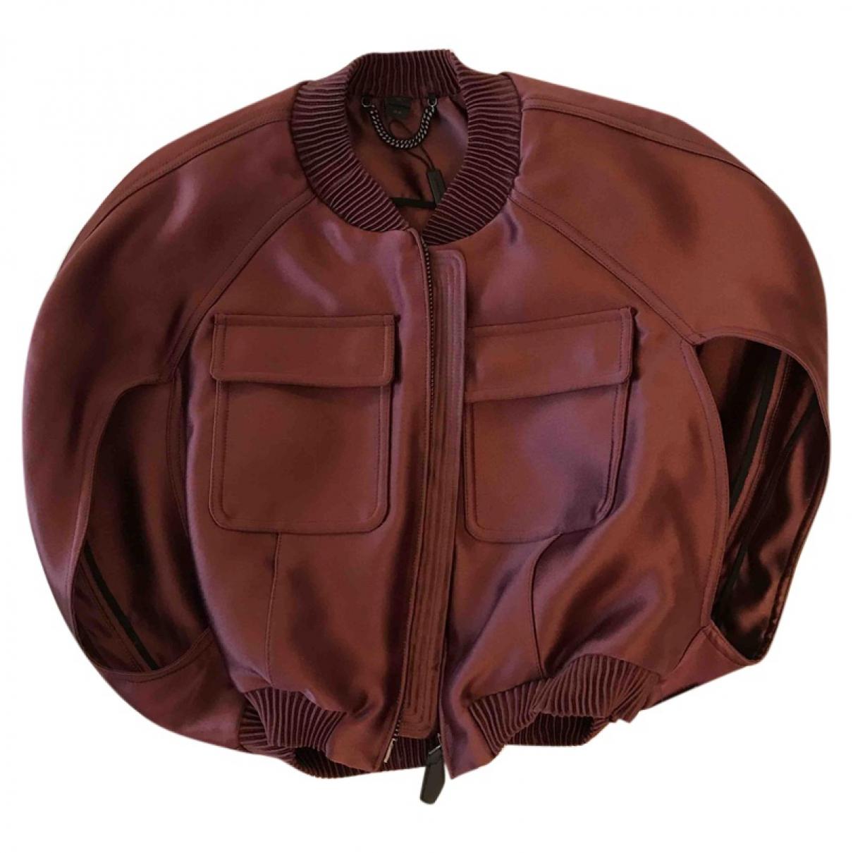 Burberry \N Burgundy jacket for Women 44 IT