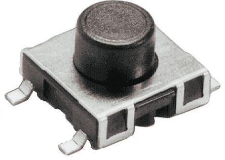 Schurter Tactile Switch, SPST-NO 50 mA @ 42 V dc 1.3mm
