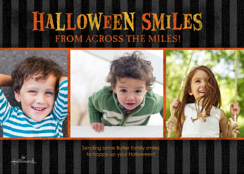 Halloween Photo Cards 5x7 Cards, Premium Cardstock 120lb with Scalloped Corners, Card & Stationery -Halloween Smiles