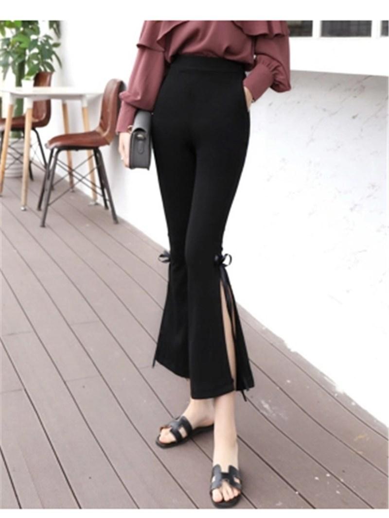 Slim Ankle Length Bowknot Women's Bellbottoms