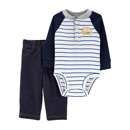 Carter's Baby Boys 2-pc. Bodysuit Set, Newborn , Blue