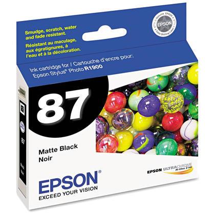 Epson T087820 cartouche d'encre originale noire mat