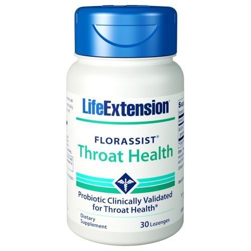 Florassist Throat Health 30 Lozenges by Life Extension