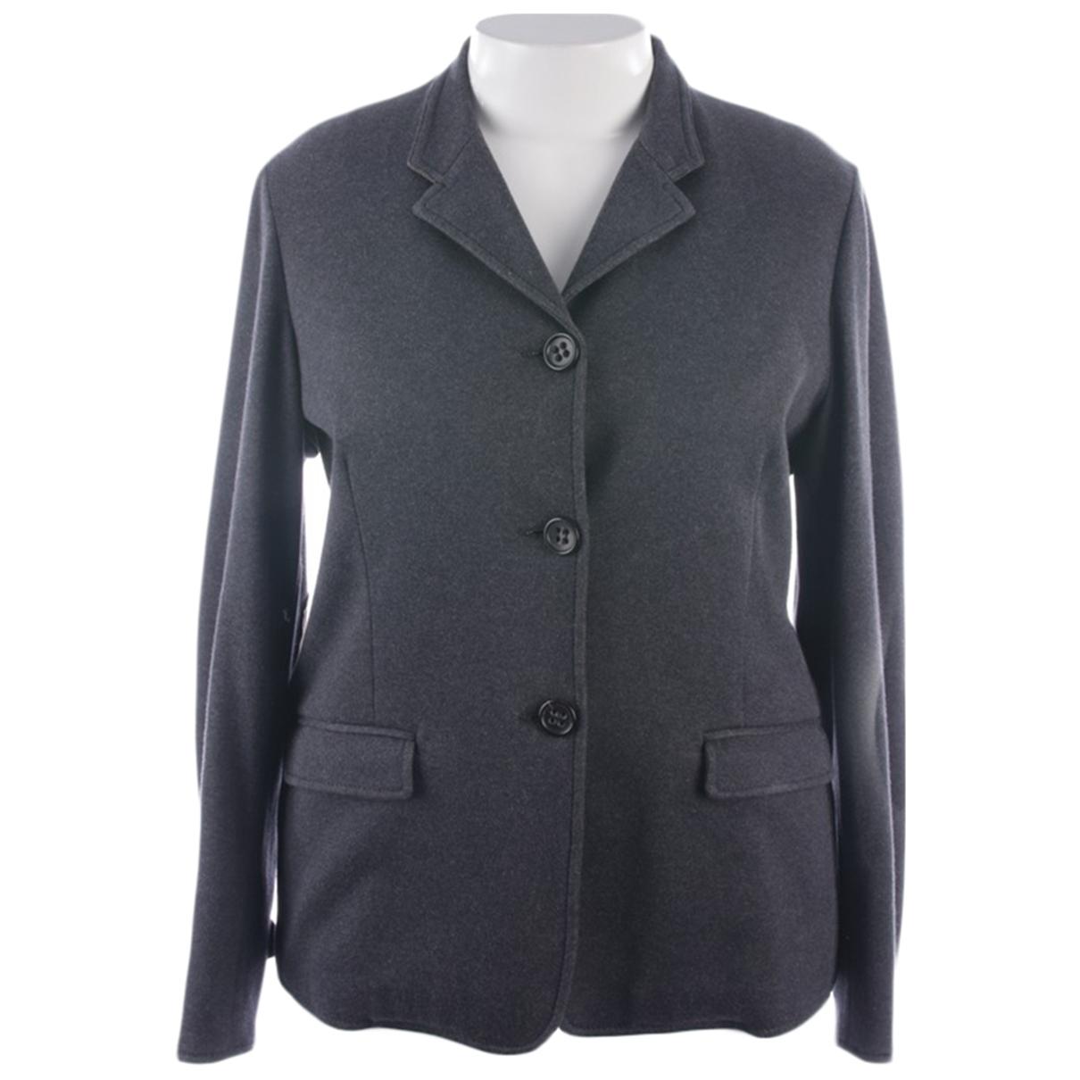 Agnona \N Grey Cotton jacket for Women 48 FR