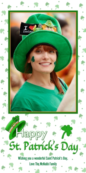 St. Patrick's Day Cards Flat Glossy Photo Paper Cards with Envelopes, 4x8, Card & Stationery -Whimsical Irish Hat