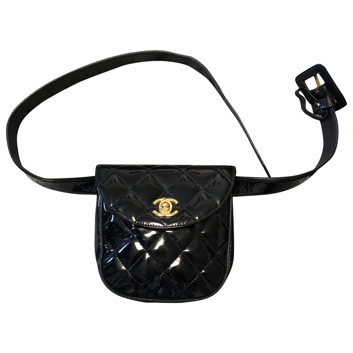 Chanel \N Black Patent leather Clutch bag for Women \N