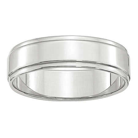 Personalized 6MM Sterling Silver Wedding Band, 5 , No Color Family