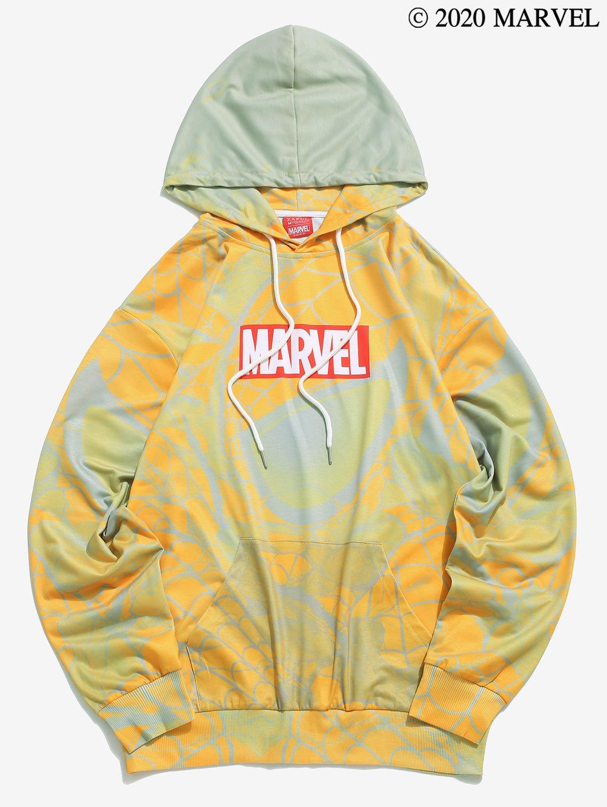 Marvel Spider-Man Printed Kangaroo Pocket Hoodie