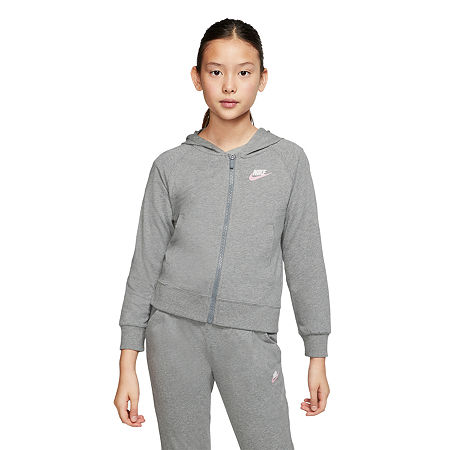 Nike Big Girls Hoodie, Medium , Gray