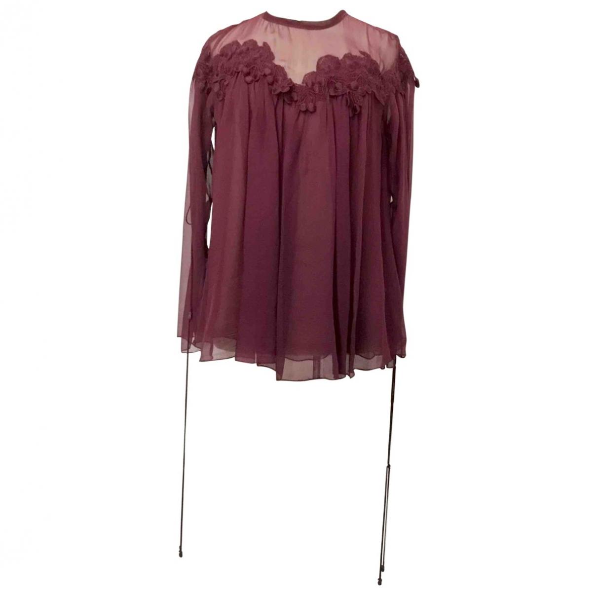 Chloé \N Burgundy Silk  top for Women 36 FR