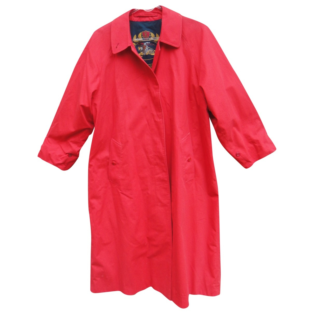 Burberry \N Red Cotton coat for Women 10 UK
